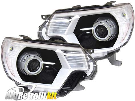 2010 tacoma lights 12 15 toyota tacoma led halo headlights hid retrofit kit