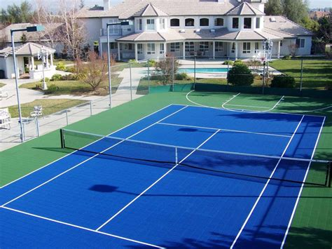 backyard tennis courts backyard basketball court layout tips and dimensions