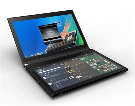 Laptop Asus Touchscreen Taichi21 Dual Screen acer iconia 6120 dual screen touchbook now available for preorder gadgetsin