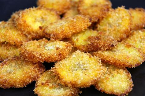 panko crusted fried plantains caribbeanpot com