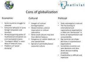 Globalisation Pro Contra Essay by Pros And Cons Of Globalization