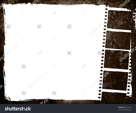 aged wallpaper with film strip border stock illustration great film strip for textures and backgrounds frame with