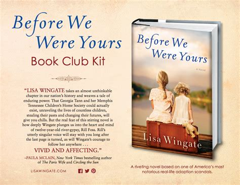 we books before we were yours book club kit random house books