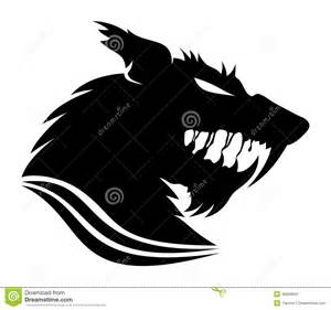 vecteur de signe loup garou illustration de vecteur