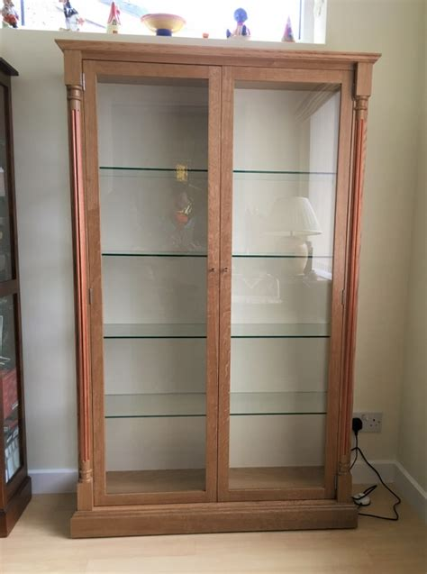 glass shelves for cabinets display cabinet in oak with glass shelves corwell