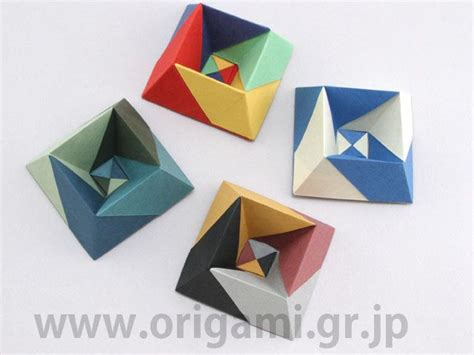 Paper Folding Toys - albers box by jun maekawa tanteidan magazine 147