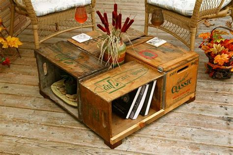 antique wood box crate table pop bottle crates by