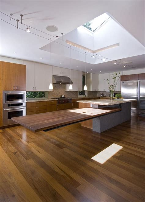floating kitchen bench cantilevered tables floating in modern luxury homes