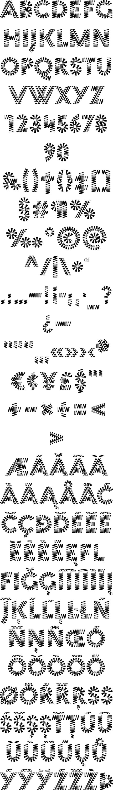 regex pattern allow special characters zig zag font by mauve type