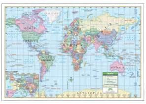 Laminated World Map by Laminated World Maps