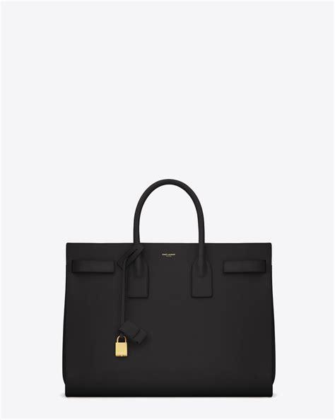 Ysl Yves Laurent Sac De Jour Navy Tas Branded Wanita laurent classic large sac de jour bag in black
