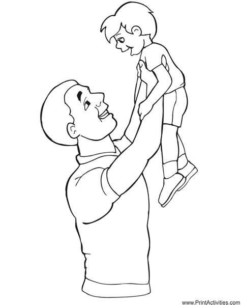 dad and son coloring page car interior design