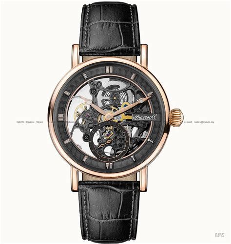 Diskon Promo Skeleton Leather Black Black Leather ingersoll i00403 automatic herald s end 10 27 2018 2 59 pm