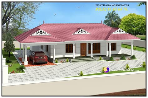 designer home plans 1320 sqft traditional single floor kerala home design