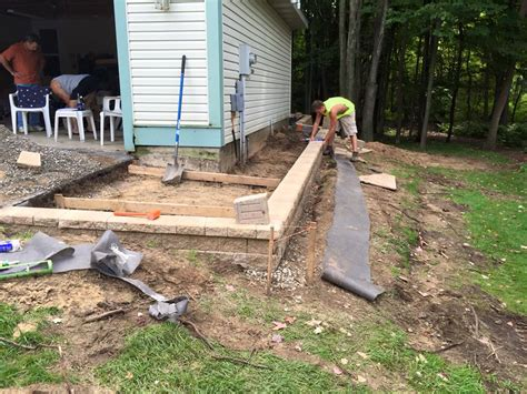 patio retaining walls paver patio and retaining wall clearbrook landscaping