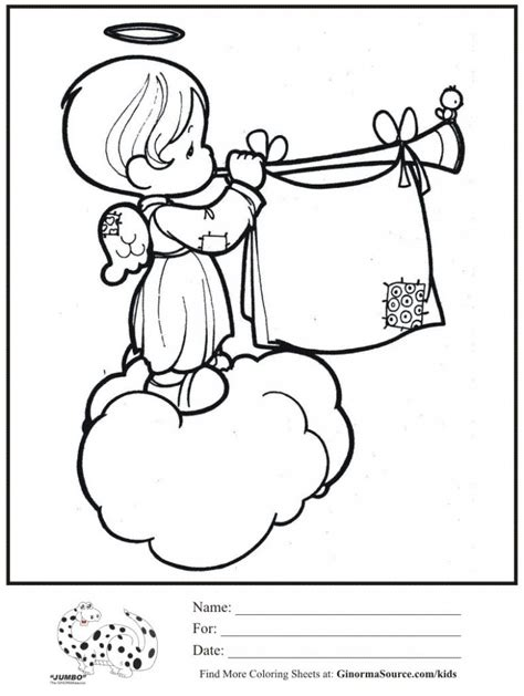 precious moments nativity coloring pages qlyview com