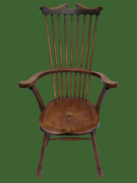 comb back chair antique 19th century ash alder comb back chair