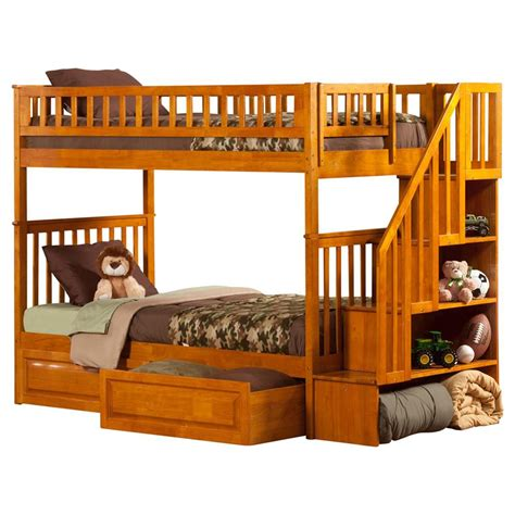 woodland twin bedding woodland twin over twin bunk bed staircase 2 raised panel bed drawers dcg stores