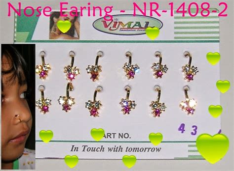 Anting Hidung Indiant 72 henna club indonesia gelang kaki payal gelang cincin taal kalung necklace anting earing