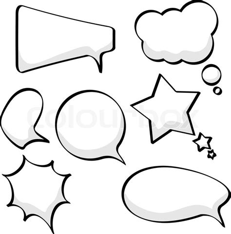 free doodle speech vector sketchy speech and thought bubbles isolated on