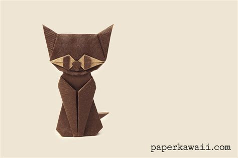 Origami Cat Tutorial - modular origami cat tutorial paper