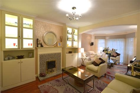 1930 renovated houses ground floor renovation to a 1930 s house transitional living room london by