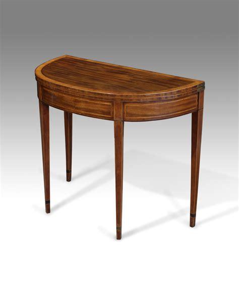 antique tea table demi lune table semi circular table