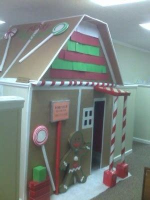 gingerbread house office cubicle decorations great ideas to the best decorated office in the building
