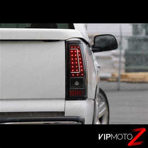 chevy silverado stepside led tail lights 2003 2006 chevy silverado 1500 2500 3500 c shape black led