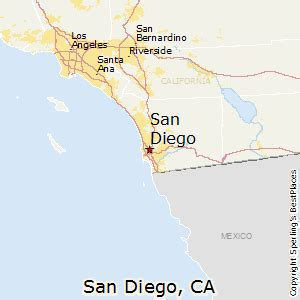 san diego map california best places to live in san diego california