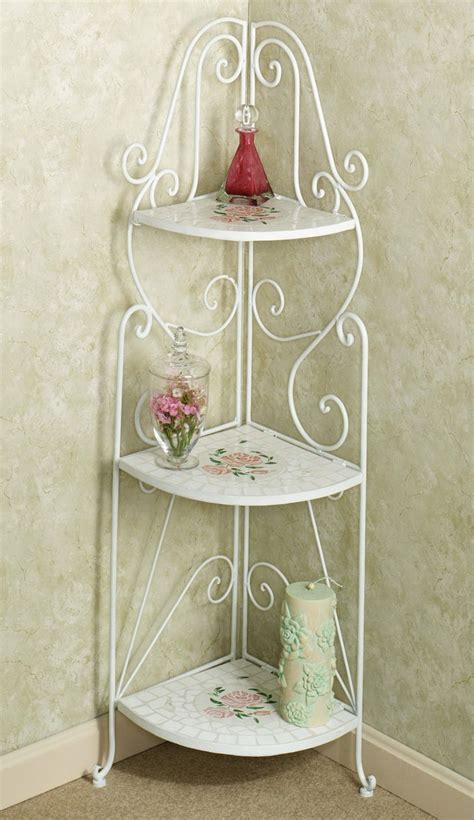 Alluring Small Corner Accent Table Decor Ideas Home   corner table plan alternative features white iron frames