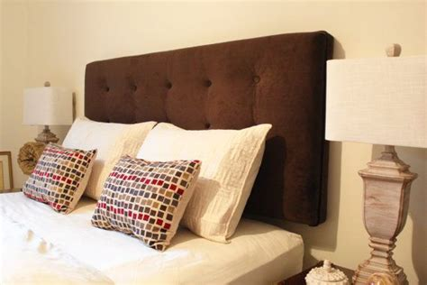 wall mounted headboards for queen beds brown ultra suede queen size headboard upholstered wall
