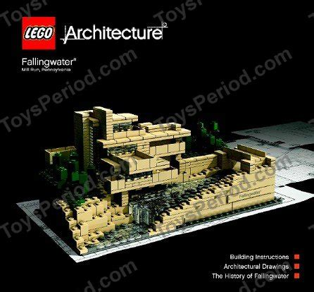 Toys Lego Architecture Fallingwater 21005 lego 21005 fallingwater set parts inventory and