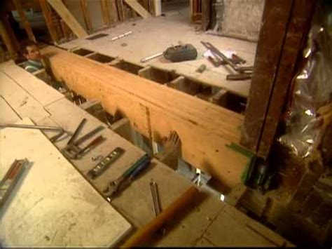 how to install a load bearing beam shingle style home bob vila eps 1403 youtube