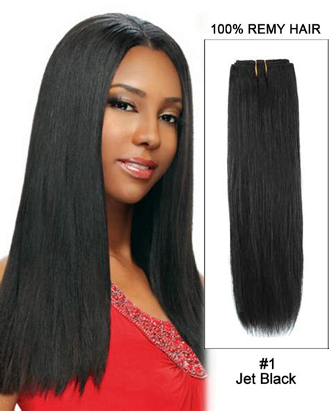 black hairstyles with remy hair 18 quot human weave 5a grade 100g 1 straight indian remy hair