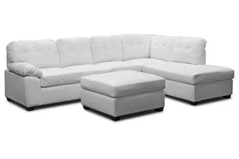 couch sec mario white leather modern sectional sofa with ottoman by