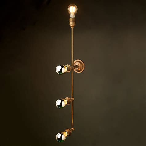 fluffy lights brass 4 bulb mirror light wall mount