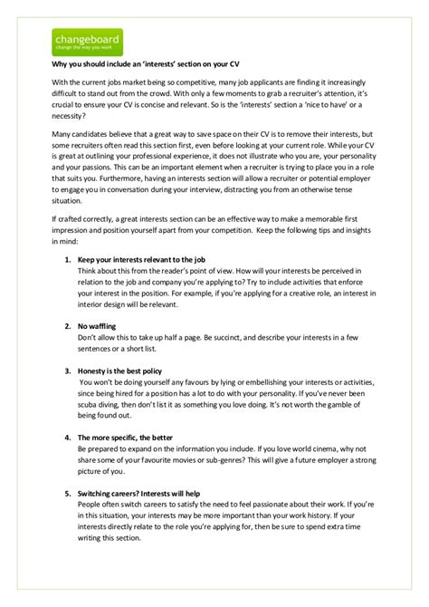 cv example studentjob uk