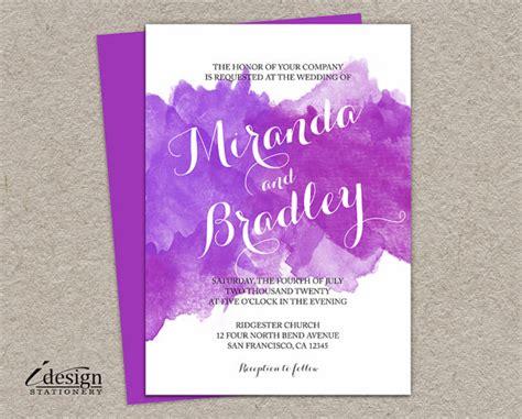 watercolor wedding invitations diy diy watercolor wedding invitation printable purple and lilac