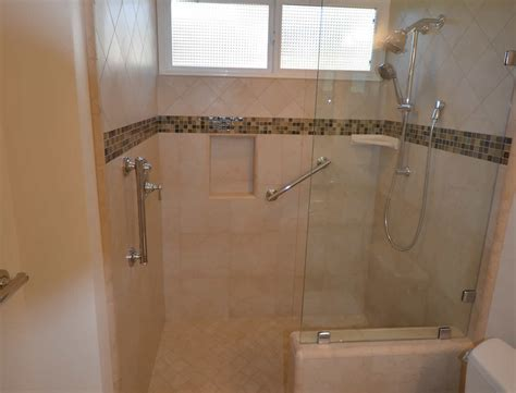 bathtub in kitchen zero threshold shower bathroom remodel lompoc ca