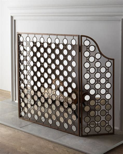 mirrored fireplace screen for the home