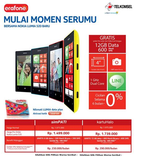erafone nokia lumia nokia lumia 520 now on pre order in indonesia softpedia