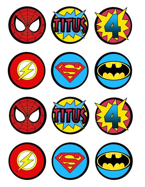printable heroes free super hero cupcake toppers or decorations by lots o lydia