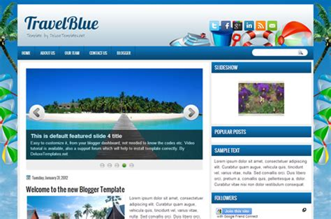 templates blogger travel travel blogger templates deluxetemplates