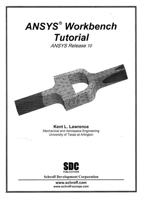 ansys tutorial design optimization pdf ansys workbench tutorial release 10 kent l lawrence