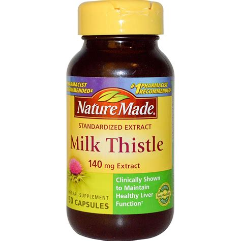 Does Milk Thistle Detox Drugs by Nature Made Milk Thistle 140 Mg Extract 50 Capsules