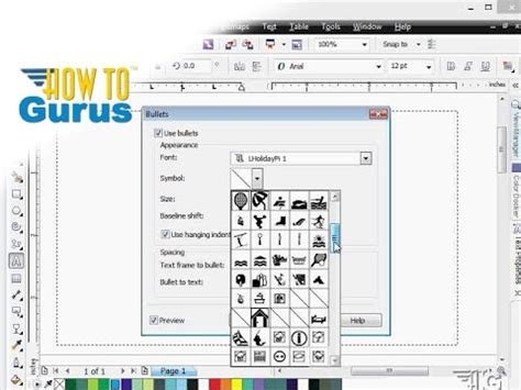 corel draw x7 effects how to setup and use bulleted lists in coreldraw 2017 x8