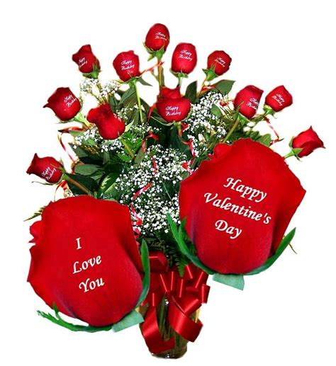 Valentines Day Roses That Speak To You flowers delivery with personalized flowers we print on