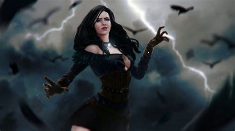 yennefer wallpaper 4k wallpaper engine witcher yennefer in the storm youtube