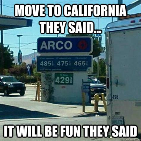 California Meme - move to california they said it will be fun they said